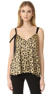 Cinq à Sept V-neck Strappy Sleeveless Top animal print