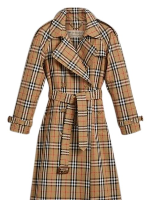 Preload https://img-static.tradesy.com/item/23425552/burberry-yellow-black-vintage-check-coat-size-4-s-0-3-650-650.jpg