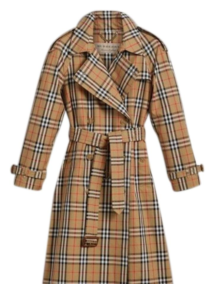Burberry Yellow Black Vintage Check Coat Size 4 (S) - Tradesy 063827f3a1d