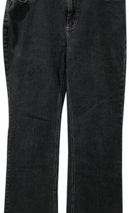 Chico's Dark Denim Pant Straight Leg Jeans-Dark Rinse