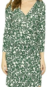 Tory Burch short dress White and Green Jersey on Tradesy