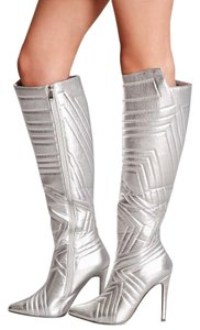 Forever New Stiletto Silver Boots