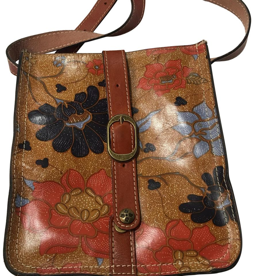 bb52f7bbeaa Patricia Nash Designs Floral Leather Cross Body Bag - Tradesy