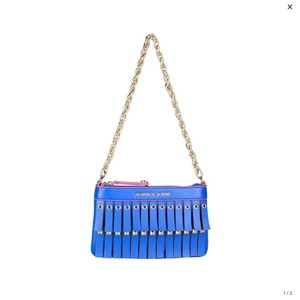 f4ac1f8996 Versace Jeans Collection Blue Synthetic Leather Clutch - Tradesy