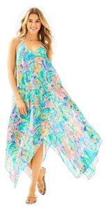 Lilly Pulitzer Perry Cover Up Bennet Blue Surf Gypsea Swim
