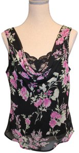 Connected Apparel Top Black w/Floral