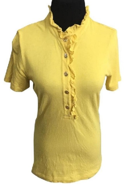 Item - Yellow Lidia Polo Button-down Top Size 8 (M)
