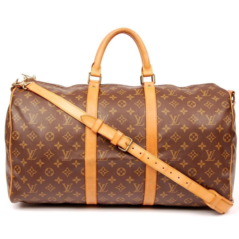 Louis Vuitton Damier Keepall Speedy Bandouliere Damier Graphite Duffle With  Strap Brown Travel Bag ... c4a7a94f45