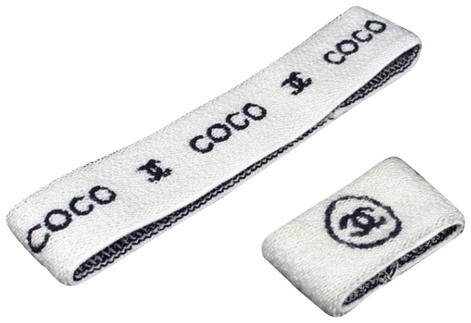 f41545e18c98 Chanel  1ST DIBS  (ULTRA RARE) CC Logo Headband and Wristband 228339 Image  ...