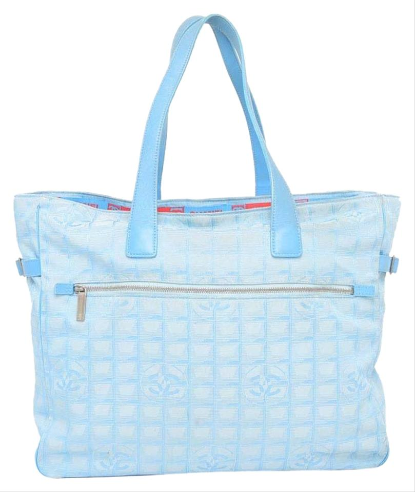 b2c83410360ee8 Chanel Shopper Travel Neverfull Classic Jumbo Tote in Light Blue Image 0 ...