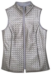 Mycra Pac Reversible Quilted Faux Leather Vest