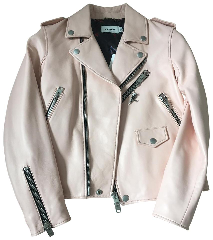 Size Light Icon Jacket Moto Pink 2 Coach Tradesy xs q1wdXn