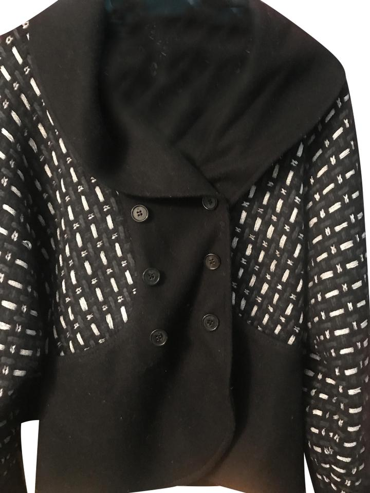 M Missoni Black and Silver Knit Jacket Cardigan Size 8 (M) - Tradesy b0d6e3936