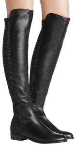 Stuart Weitzman Leather Quilted Black Boots