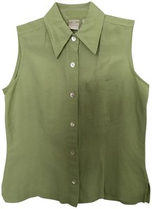 Emma James Sleeveless Button Down Pocket Tunic