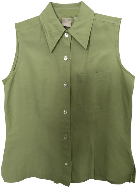 Item - Chartreuse Button-down Tunic Size 4 (S)