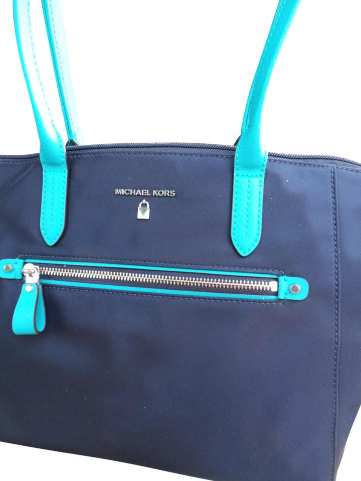 df9976f408c7 MICHAEL Michael Kors Tote in Admiral/Navy Blue with Teal Trim Image 0 ...