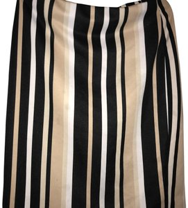 New York & Company Skirt black beige and white