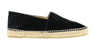 Chanel Espadrilles Navy and Black Flats