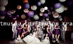 """Purple & White Color 40 Set 8"""" 10"""" 12"""" 14"""" Chinese Round Paper Lanterns Party Floral Sky Other"""