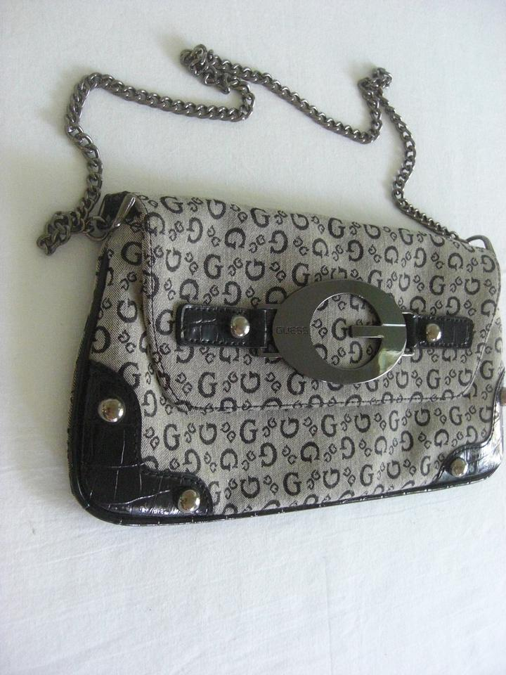 Guess Chain Gray Black Messenger Bag