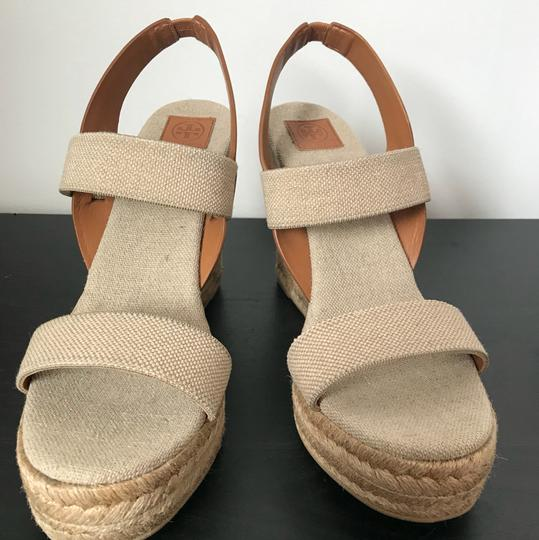 Tory Burch brown and nude/beige Wedges Image 1