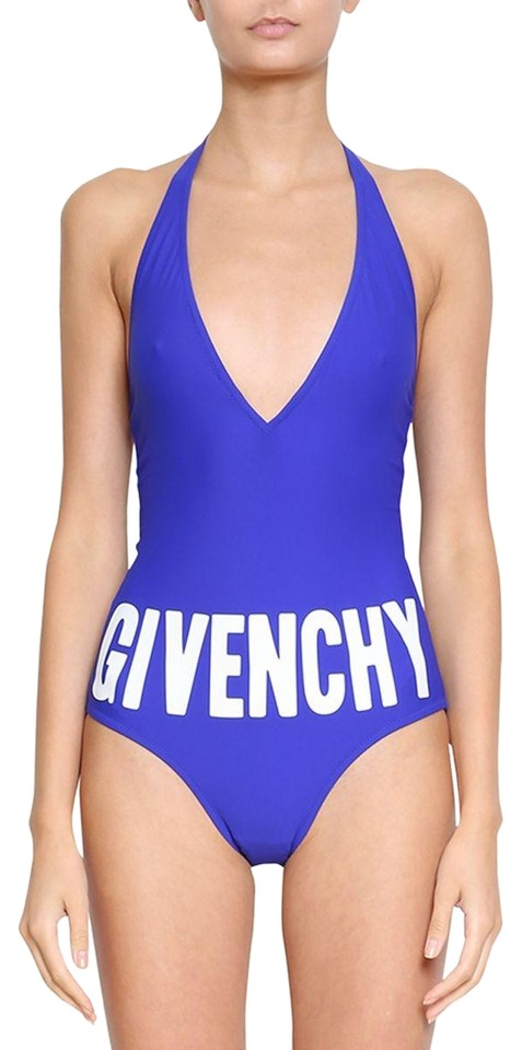 c0c9a66526cef Givenchy Givenchy Logo Purple S18 Deep Plunge One Piece Swimwear Swimsuit  34 FR Image 0 ...