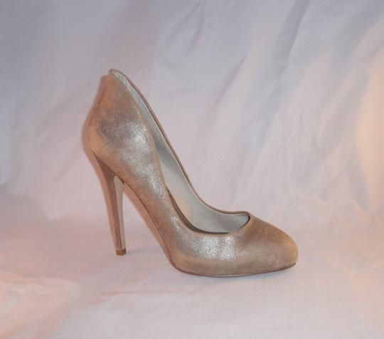ALDO Stiletto Heels Wingback Gold (Distressed Shimmer) Pumps