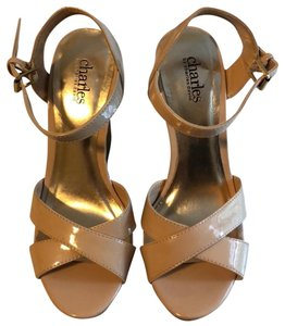 Charles by Charles David nude and tan Wedges