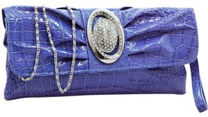Dasein Pleated Front The Treasured Hippie Affordable Designer Inspired Handbags Purple Clutch