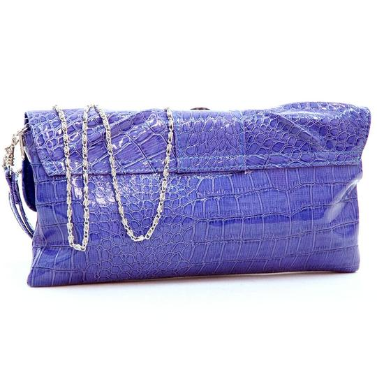 Dasein Pleated Front The Treasured Hippie Affordable Designer Inspired Handbags Purple Clutch Image 1
