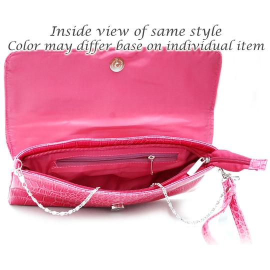 Dasein Pleated Front The Treasured Hippie Affordable Designer Inspired Handbags Purple Clutch Image 2