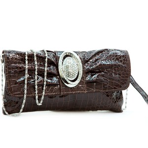Dasein Pleated Front The Treasured Hippie Affordable Designer Inspired Handbags Coffee Clutch