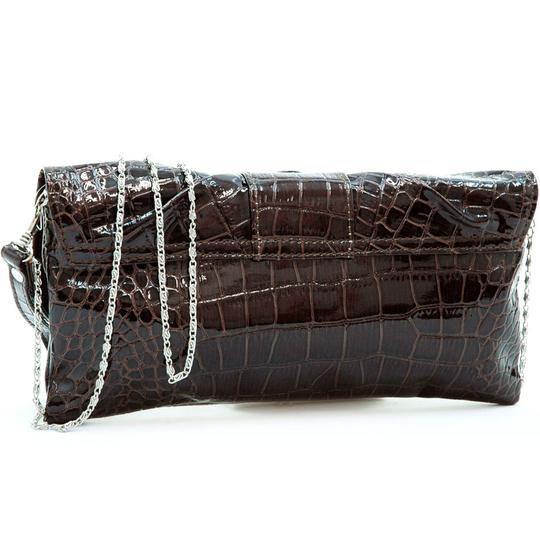 Dasein Pleated Front The Treasured Hippie Affordable Designer Inspired Handbags Coffee Clutch Image 1