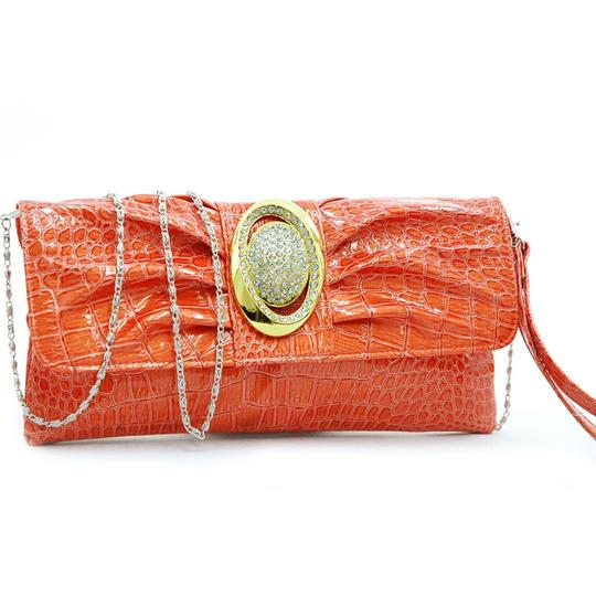 Preload https://img-static.tradesy.com/item/23428388/pleated-front-purse-orange-faux-leather-clutch-0-1-540-540.jpg