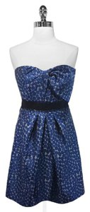 BCBGMAXAZRIA Strapless Polka Dot Dress