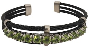Savvy Cie Peridot Cable Cuff Bracelet