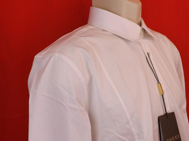 Item - White Popeline Cotton Slim Fit Button Dowm Dress 17 43 #307656 Shirt
