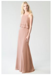 Jenny Yoo Desert Rose Luxe Chiffon Charlie Formal Bridesmaid/Mob Dress Size 2 (XS)