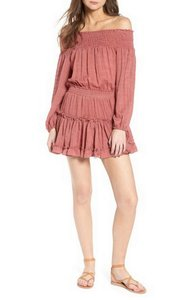 MISA Los Angeles short dress brick on Tradesy