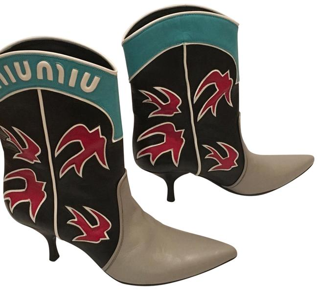Item - Multicolor Ayers Applique Boots/Booties Size US 7 Regular (M, B)