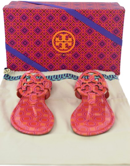 Tory Burch Miller Logo Miler Vivid Orange Octagon Square - 673 Sandals Image 11