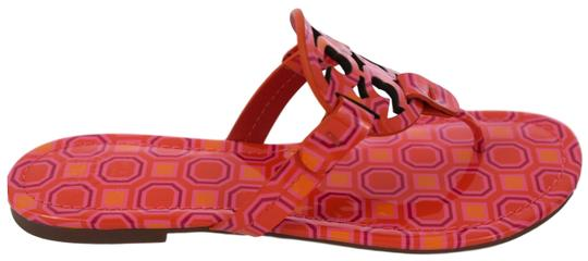 Tory Burch Miller Logo Miler Vivid Orange Octagon Square - 673 Sandals Image 4