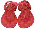 Tory Burch Miller Logo Miler Vivid Orange Octagon Square - 673 Sandals Image 5