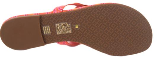 Tory Burch Miller Logo Miler Vivid Orange Octagon Square - 673 Sandals Image 8