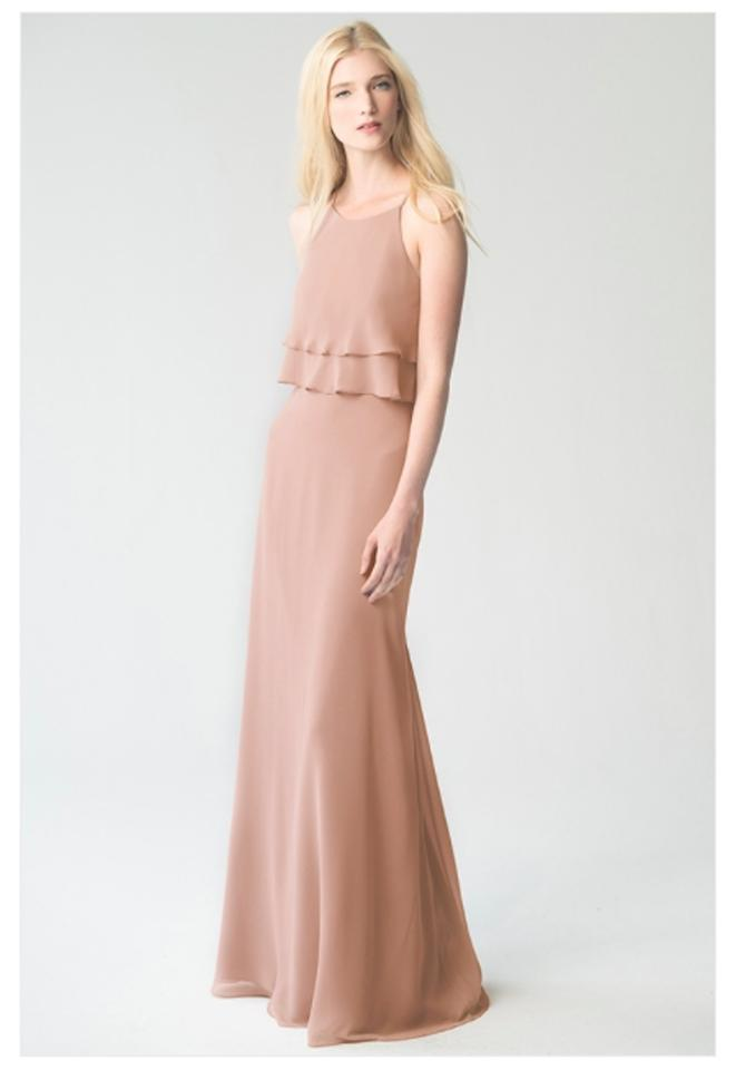 cacfacbbf7f Jenny Yoo Desert Rose Luxe Chiffon Charlie Formal Bridesmaid Mob Dress Size  8 (M ..