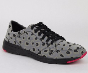 Gucci Gray Reflex Leopard Print Running Sneakers 10 G/ Us 10.5 368485 1400 Shoes