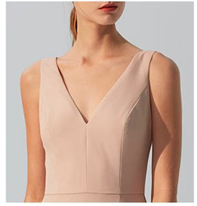 Amsale Fawn Crepe Gb044p Formal Bridesmaid/Mob Dress Size 4 (S)