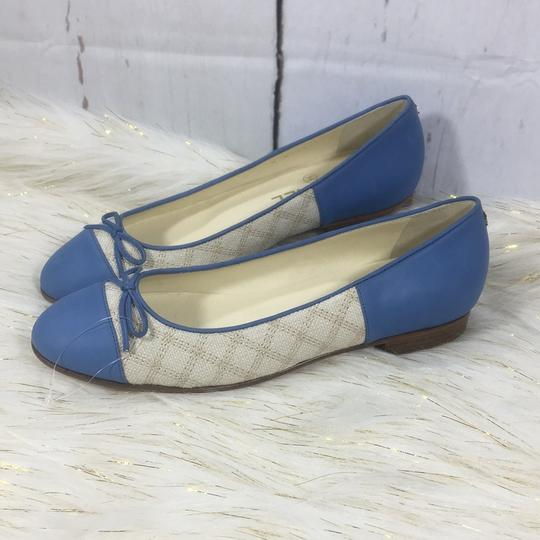 Chanel white blue Flats Image 1