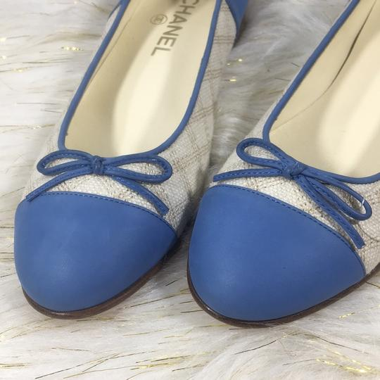 Chanel white blue Flats Image 10